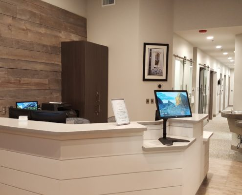 Charleston Orthodontic Specialists Front Desk/Waiting Area