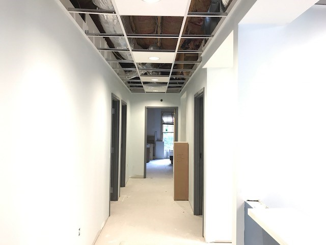 Site photo of dental office that is under construction