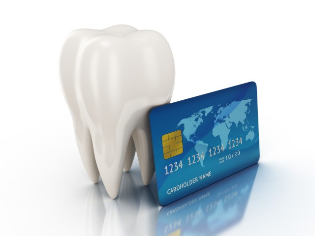 PCI compliance graphic with tooth and credit card