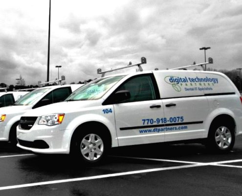 Onsite dental IT support vans for Digital Technology Partners