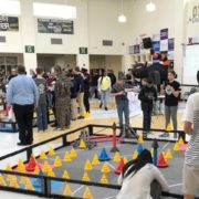 VEX robotics competition gameplay in action
